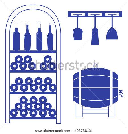 Wine Rack Stock Photos, Royalty.