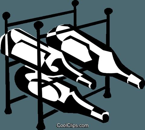 wine rack Royalty Free Vector Clip Art illustration.
