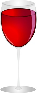 Wine Glass Clipart Image Glass Of Red Wine.