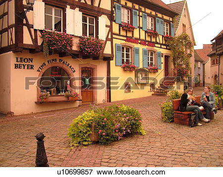 Picture of France, Europe, Alsace, Eguisheim, Haut.
