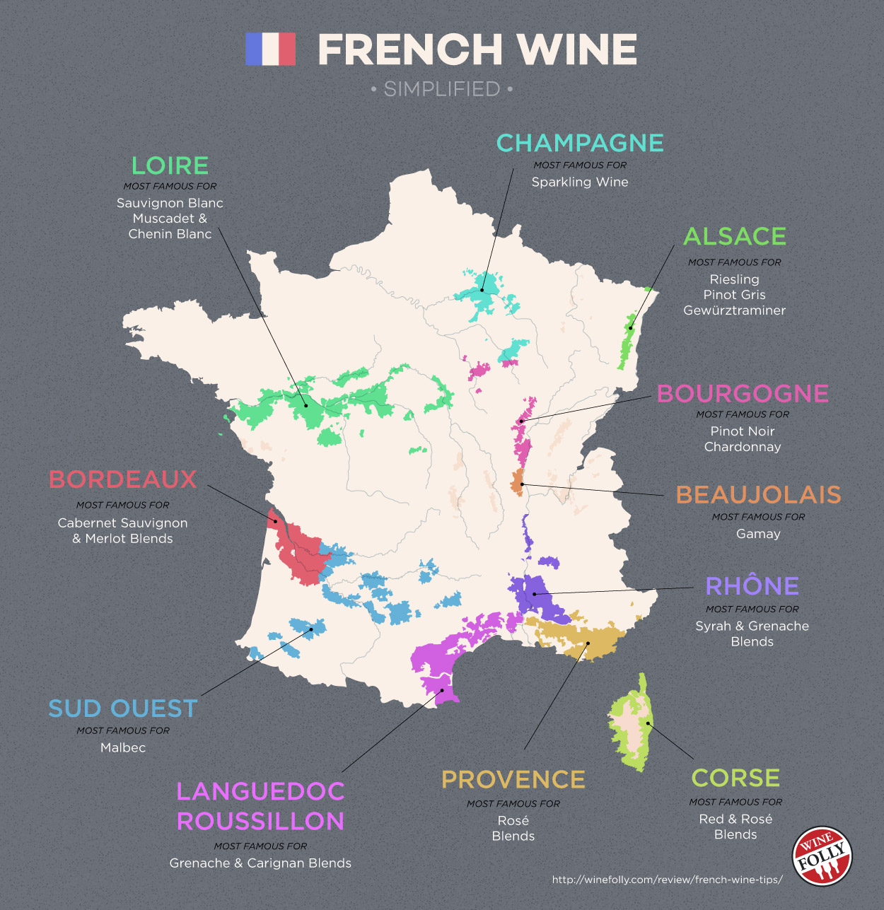 The Wines of South West France (map).
