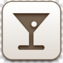 Albook extended sepia , wine glass icon transparent.