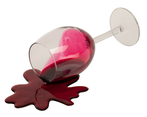 Spilled Wine Clipart.