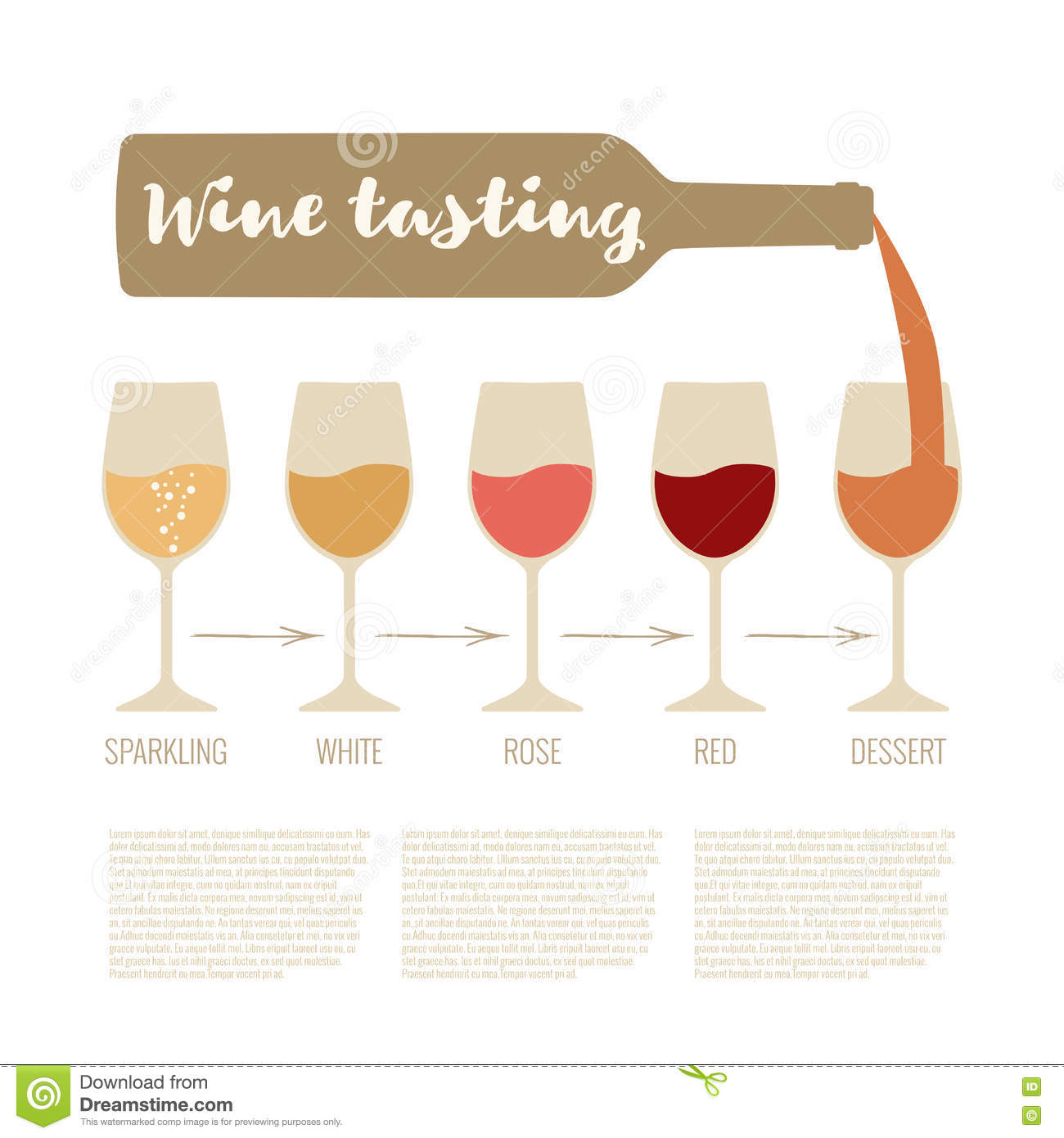 Wine tasting stock vector. Illustration of industry, clipart.
