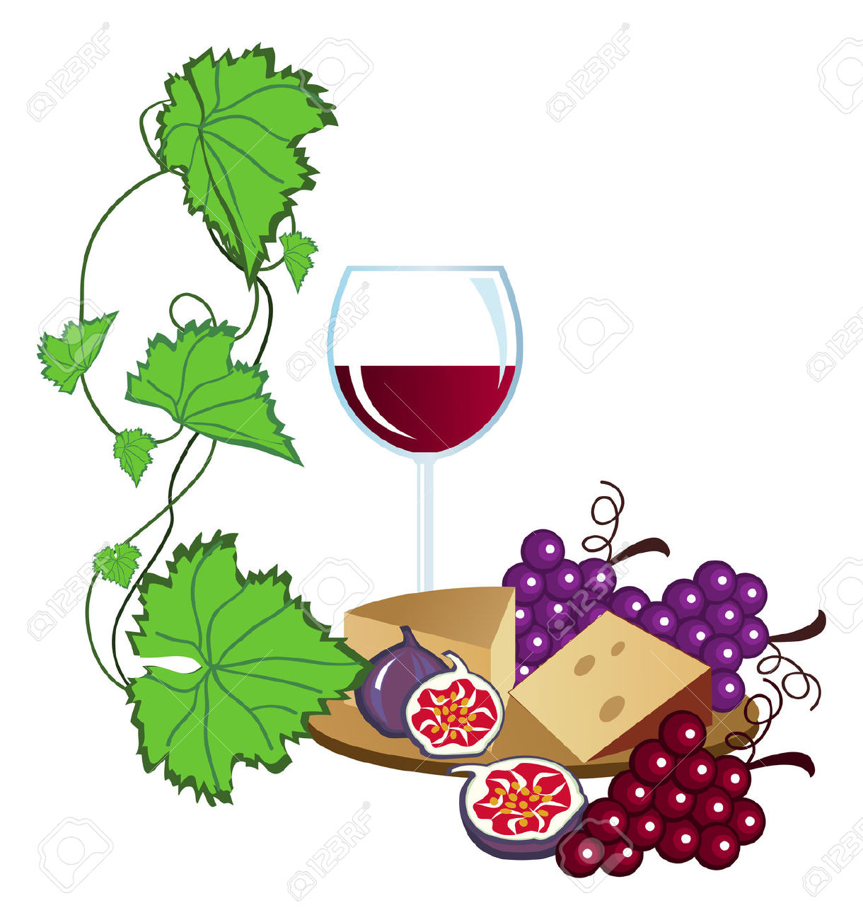 Tour Wine Tasting Clip Art.