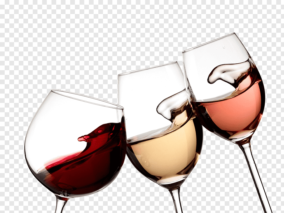 Three wine glasses illustration, White wine Czech wine.
