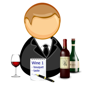 Sommelier / wine steward clipart, cliparts of Sommelier.