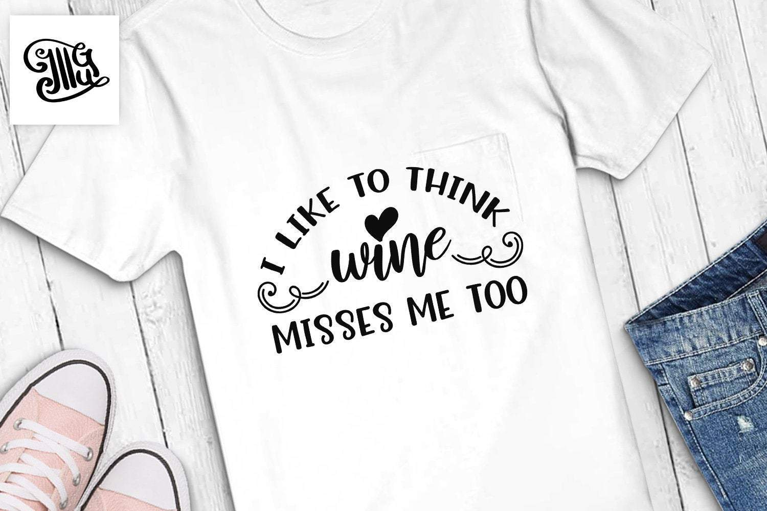 I like to think wine misses me too svg, pregnant svg, funny pregnancy svg,  maternity svg, pregnancy clipart, pregnancy sayings,.