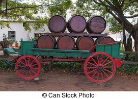 Stock Photo of The Stellenbosch wine lands region near Cape Town.