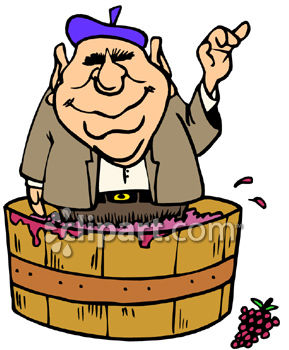 Wine Making Clip Art.