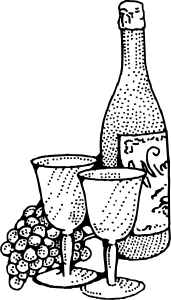 Wine clipart black and white » Clipart Station.