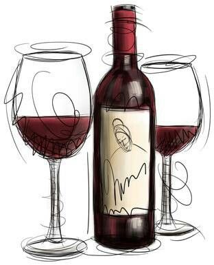 Wine clipart .Cool!.