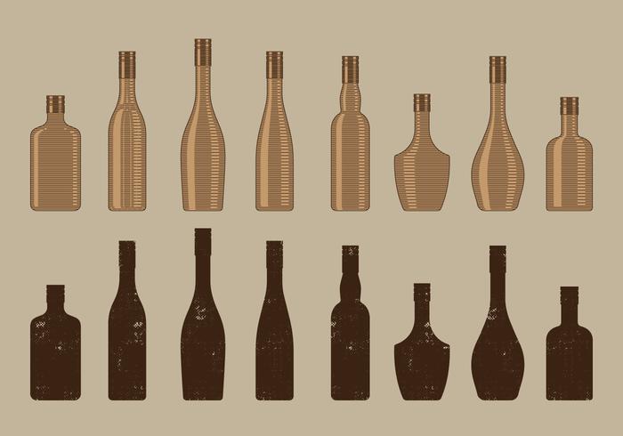 Vintage Wine Bottle Collection.