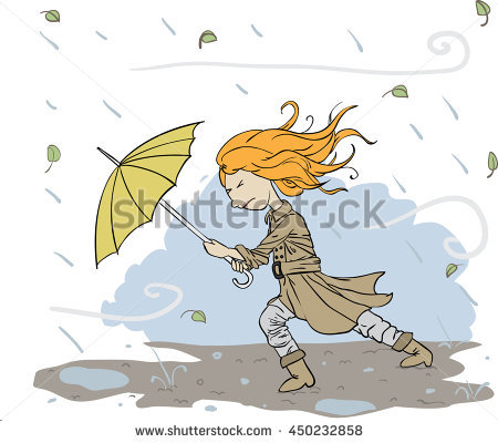 Wind And Rain Clipart.