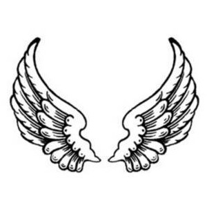 Free Clipart Picture of Feathered Angel Wings.