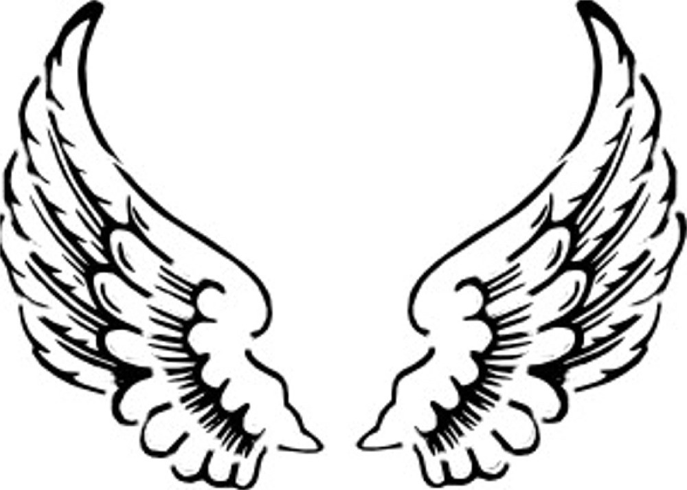 Halo And Angel Wing Clipart.