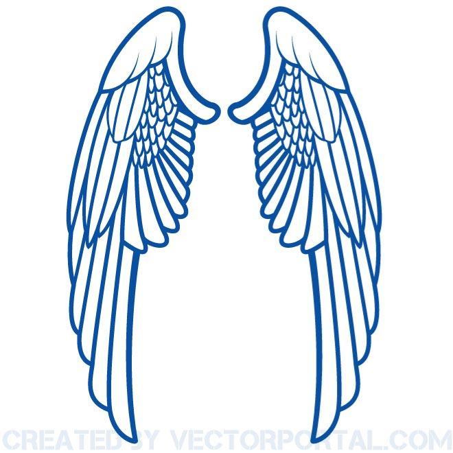 Wings Clip Art Stock Free Vector.