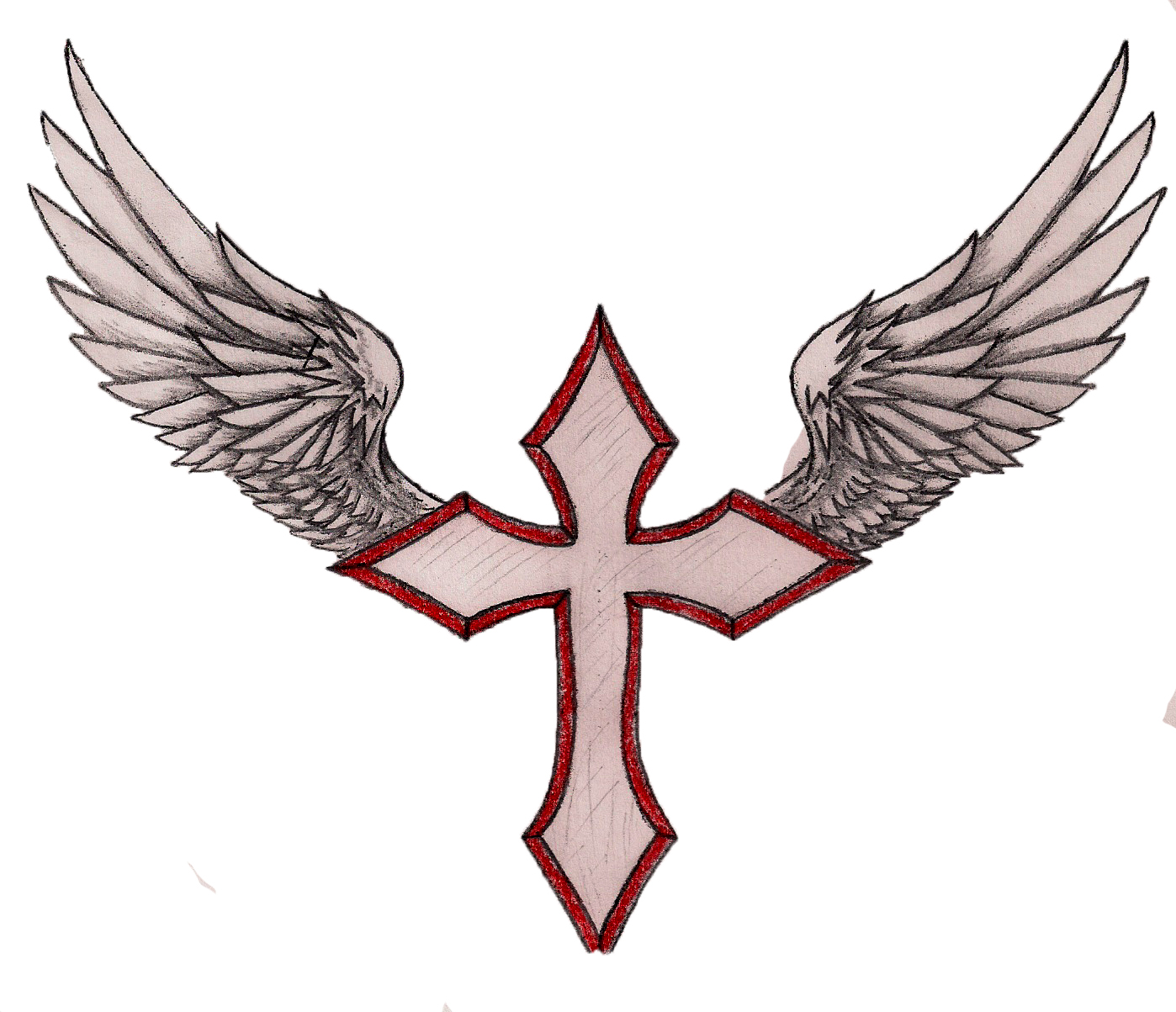 Cross With Wings Clipart.