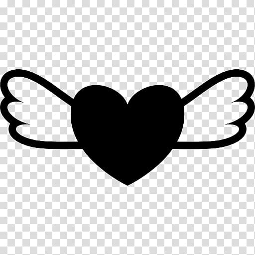 Heart Wing transparent background PNG cliparts free download.