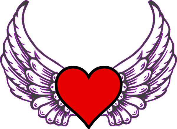 Heart Wing Clip Art at Clker.