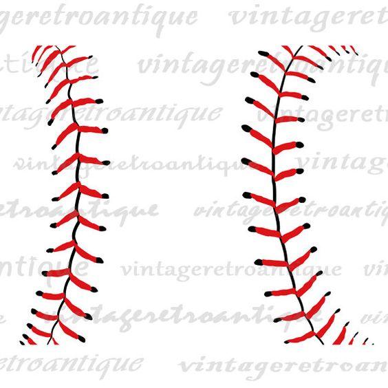 Baseball Digital Image Baseball Seams Graphic Sports Clipart.
