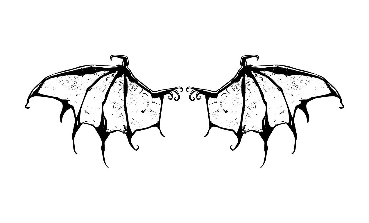 wing skeleton clipart