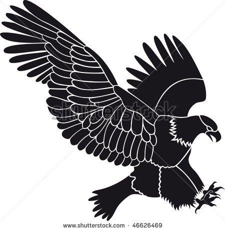 Falcon Wingspan Clipart.