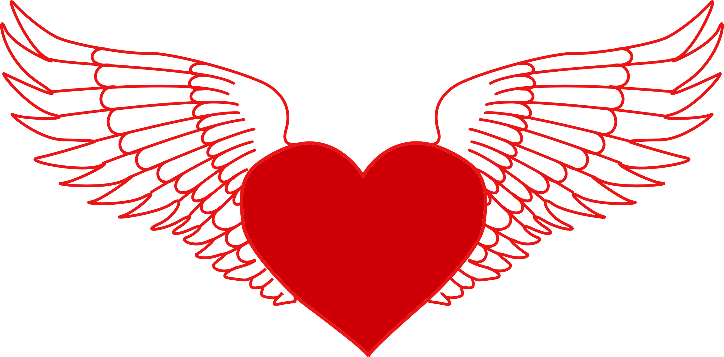 Wing clipart heart, Wing heart Transparent FREE for download.