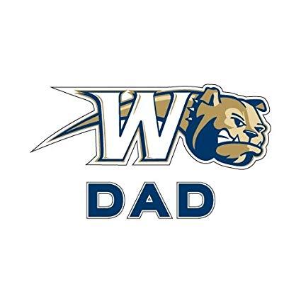 Amazon.com : Wingate Dad Decal \'Bulldog w/W Swoosh\' : Sports.