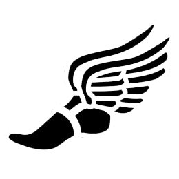 Winged track shoe clipart.