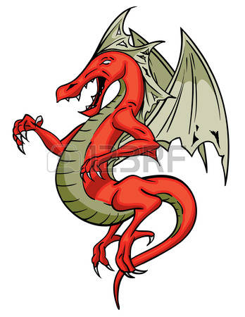 563 A Winged Dragon Stock Vector Illustration And Royalty Free A.