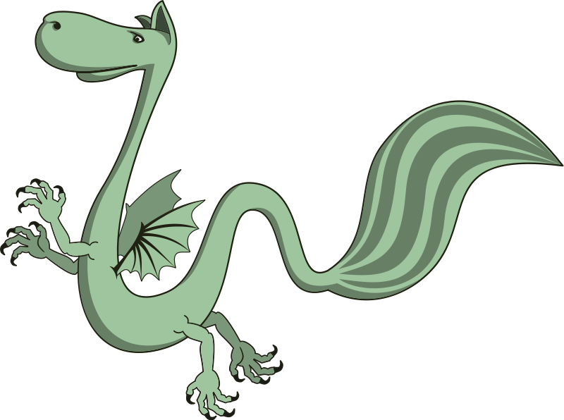 Free Cartoon Winged Dragon Clip Art.