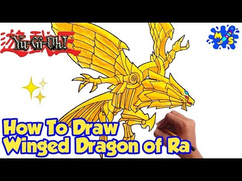 How to Draw Winged Dragon of Ra from Yugioh.