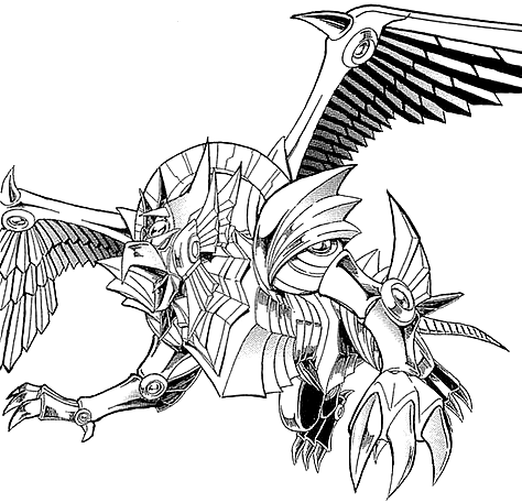 Winged Dragon Of Ra Coloring Pages.