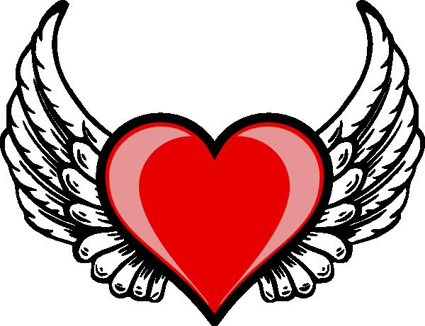 Heart Wing Logo clip art.