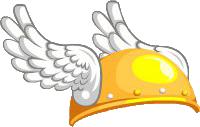Legends Hermes Winged Helmet.