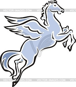 Winged horse.