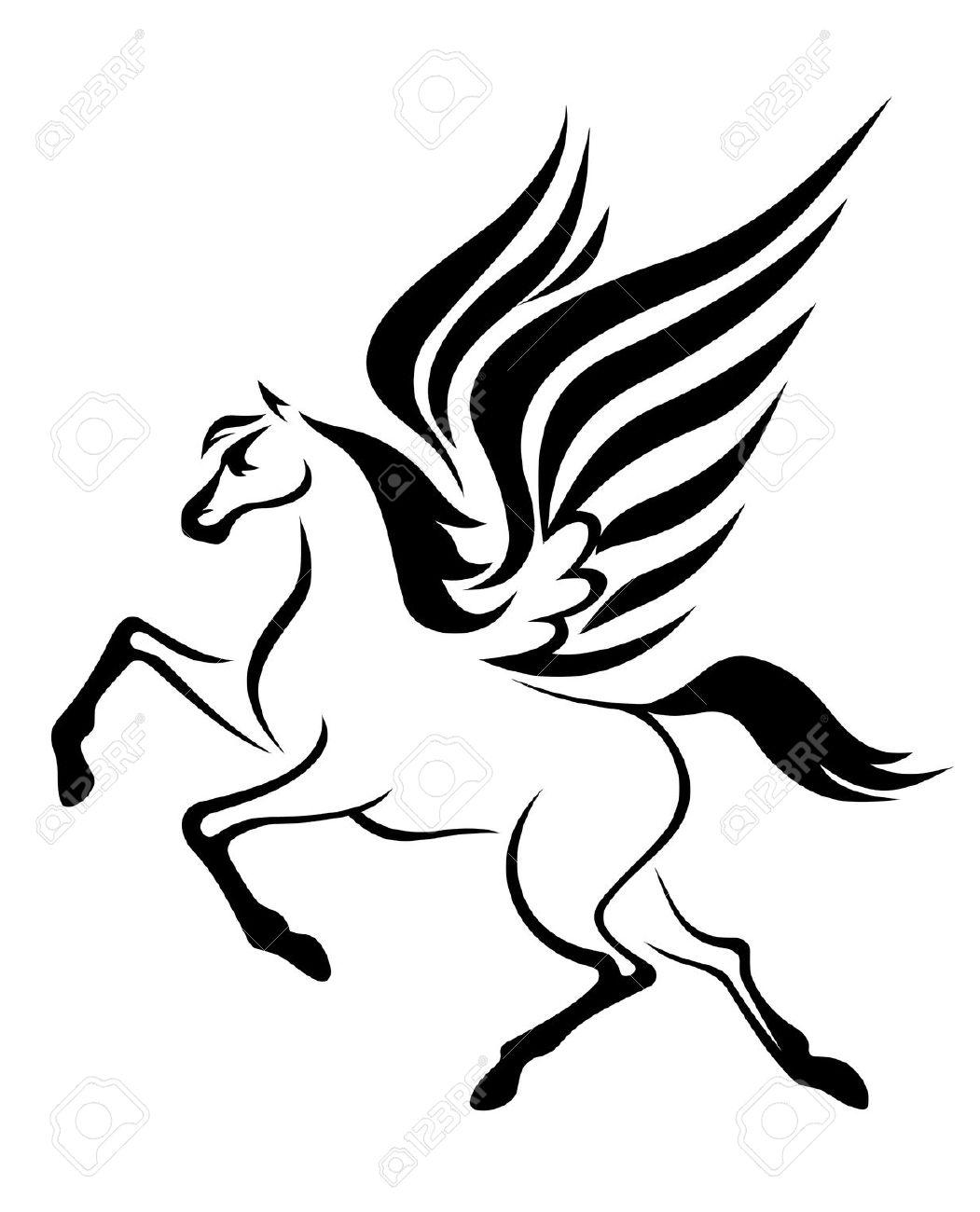 Pegasus flying clipart.