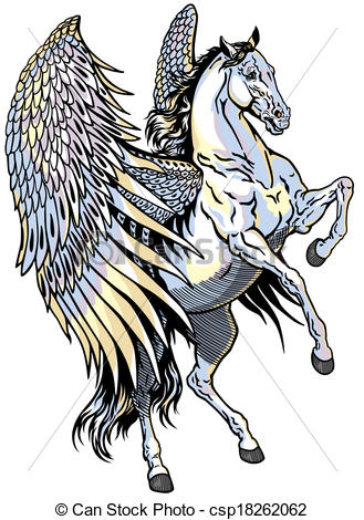 Winged horse Vector Clipart Illustrations. 697 Winged horse clip.