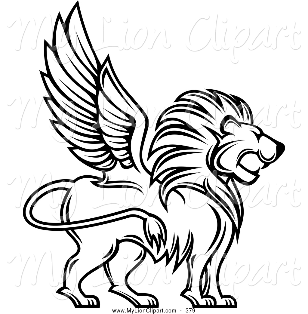 Flying Lion Clipart.