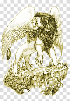 Winged Lion transparent background PNG cliparts free.