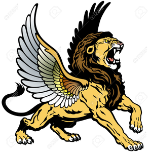 Winged Lion Clipart.