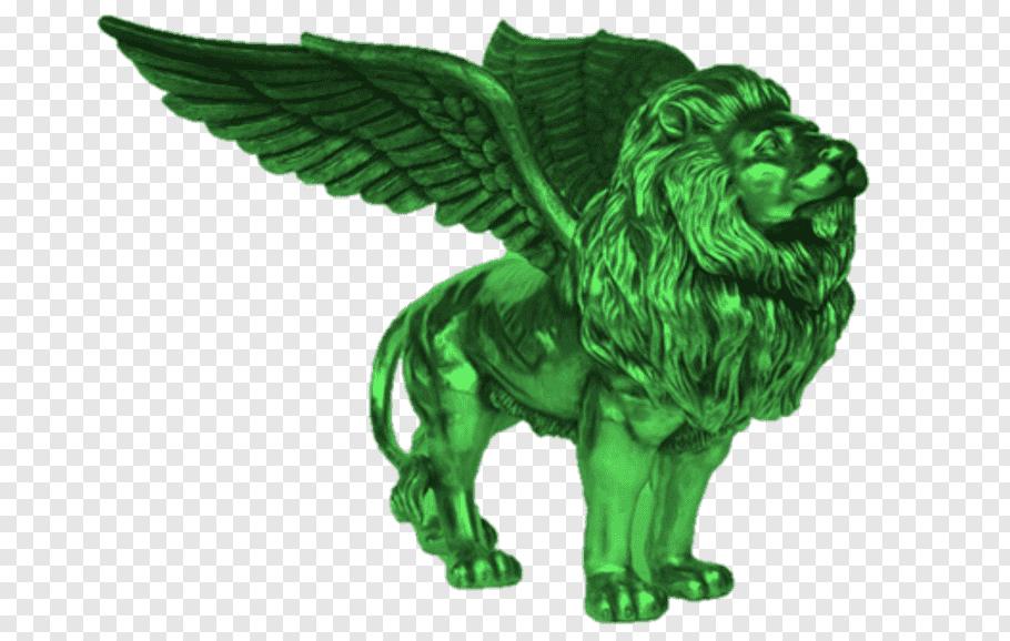 Winged lion Blokken; Knorrende beesten; Bint Logo, lion free.
