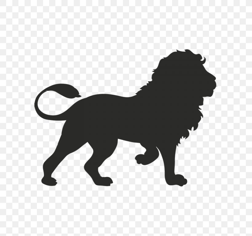 Winged Lion Vector Graphics Illustration Clip Art, PNG.
