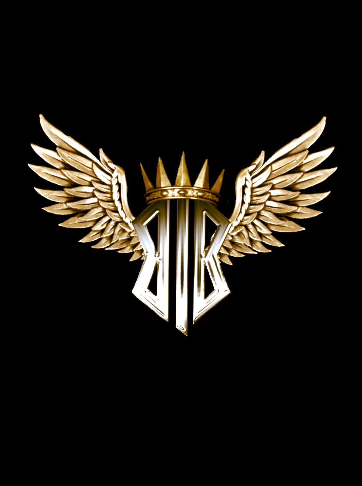 Winged logo.