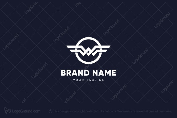 Exclusive Logo 92682, Winged Letter W Logo.