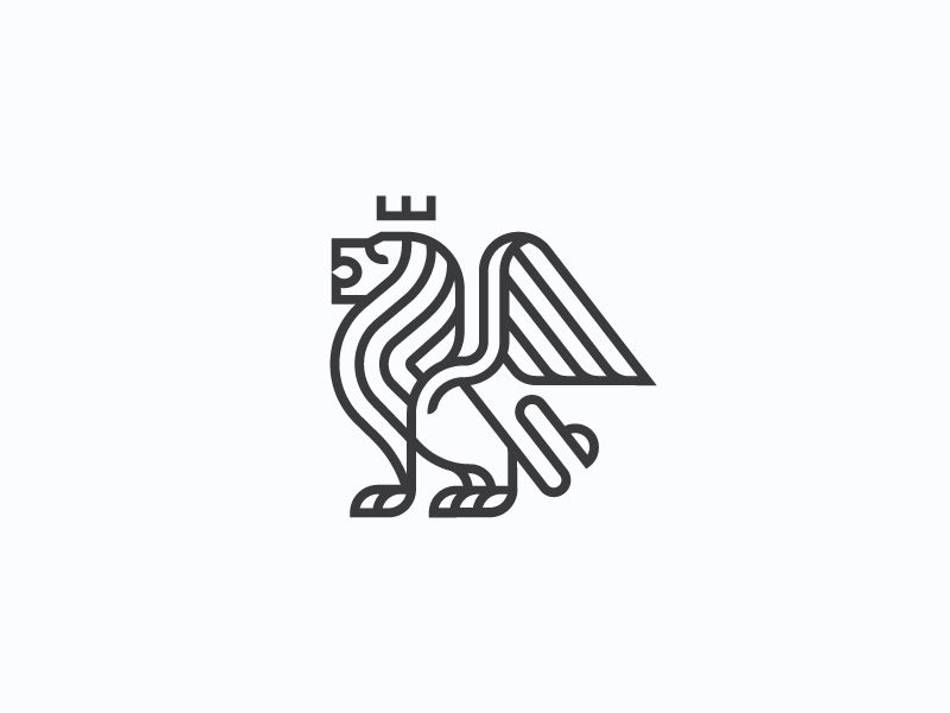 Winged lion mark.
