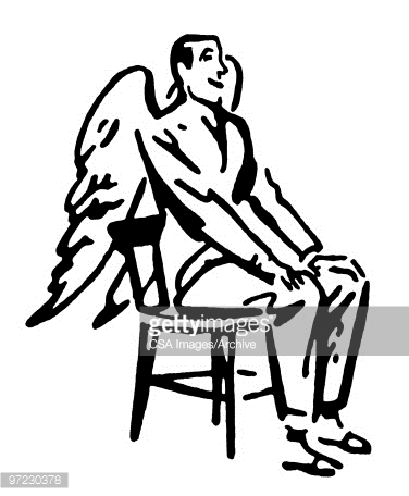 Winged Man Stock Illustration.