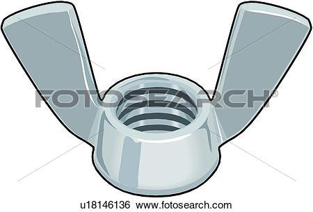 Wing nut Clipart Illustrations. 39 wing nut clip art vector EPS.