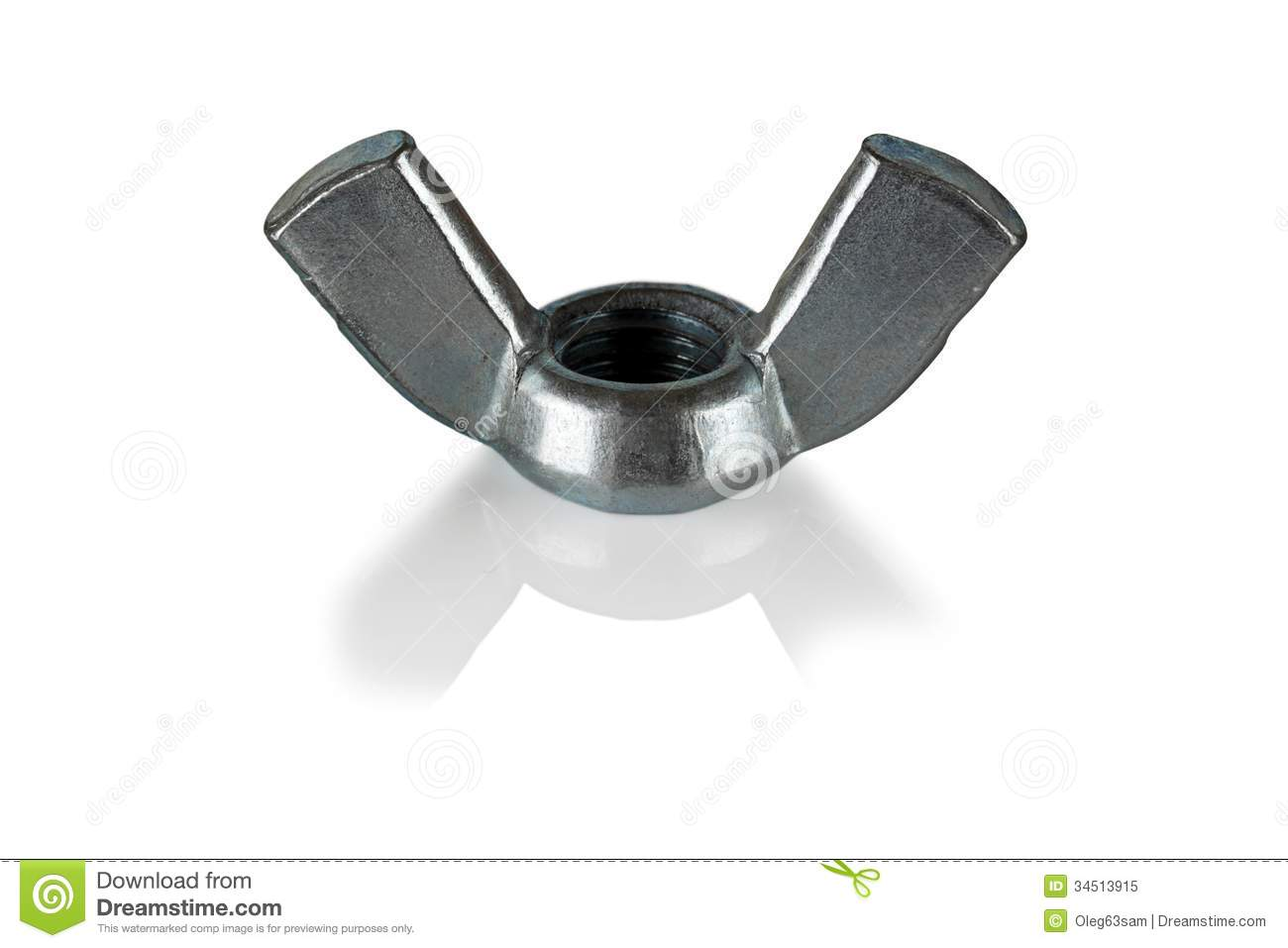 Wing Nut Royalty Free Stock Photos.
